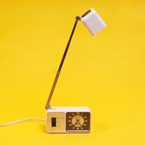 Table lamp - alarm clock.